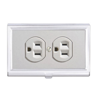 Electrical Outlet Plug in Business Card Case