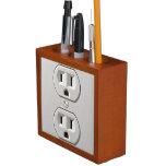 Electrical Outlet Plug in Desk Organizer