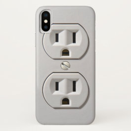 Electrical Outlet Plug in iPhone X Case