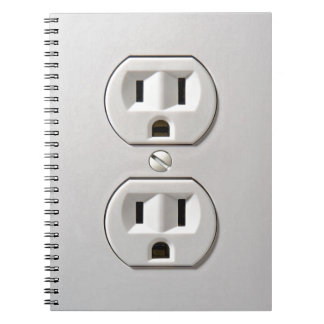 Electrical Outlet Plug in Spiral Notebook