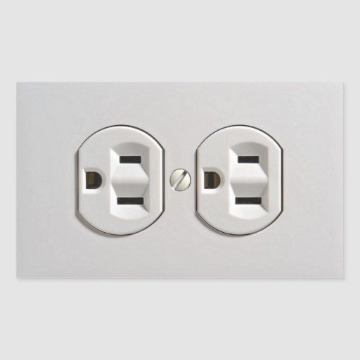 Electrical Outlet Plug in Sticker