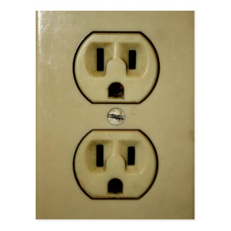Electrical Outlet Postcard
