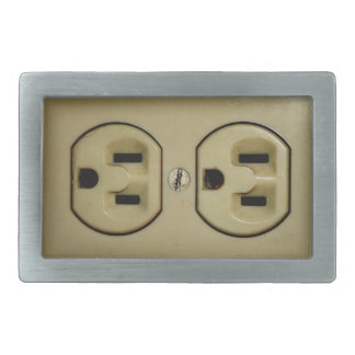 Electrical Outlet Rectangular Belt Buckle