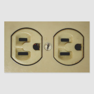 Electrical Outlet Rectangular Sticker