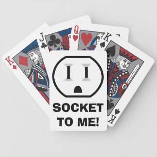 Electrical Outlet (Socket To Me) Bicycle Playing Cards