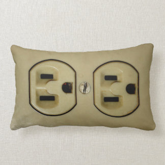 Electrical Outlet Throw Pillow