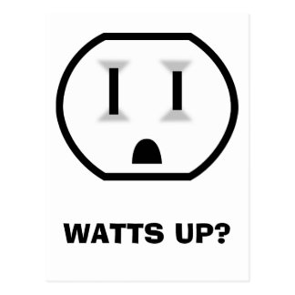 Electrical Outlet (Watts Up?) Postcard