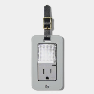 Electrical Outlet with Night Light Bag Tag