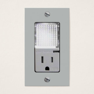 Electrical Outlet with Night Light Business Card
