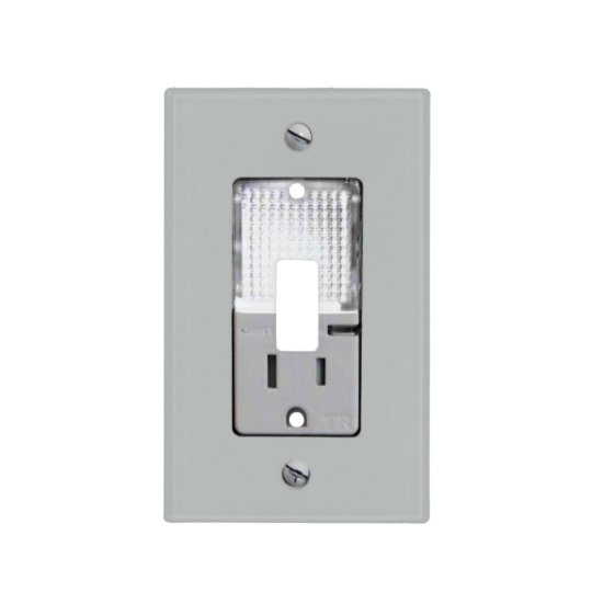 Electrical Outlet With Night Light Switch Cover