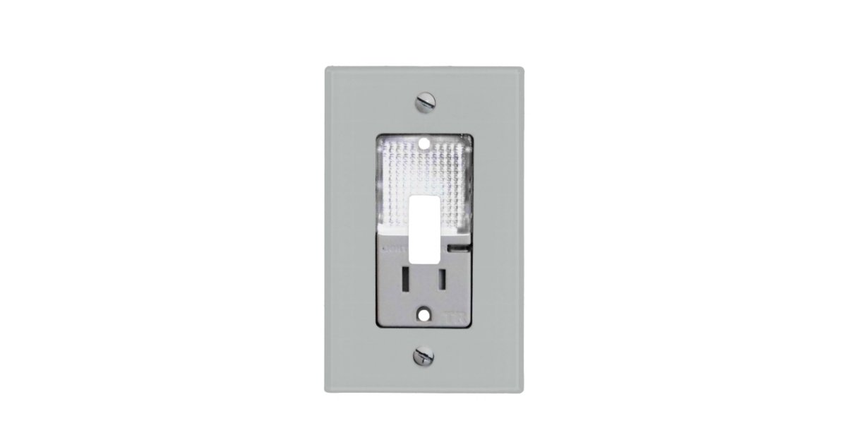 Electrical Outlet with Night Light Light Switch Cover | Zazzle.com