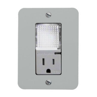 Electrical Outlet with Night Light Rectangular Photo Magnet