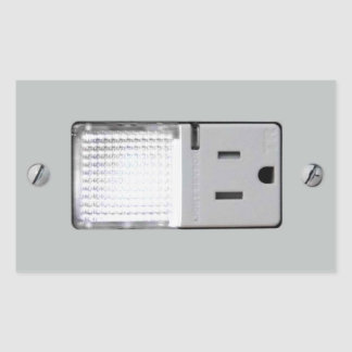 Electrical Outlet with Night Light Rectangle Sticker