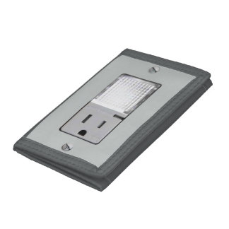 Electrical Outlet with Night Light Trifold Wallets