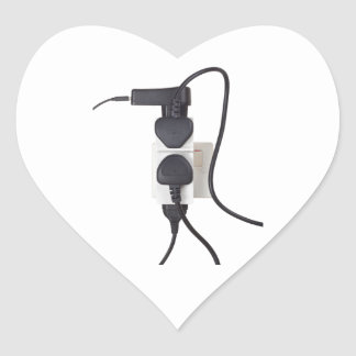 Electrical overload heart sticker