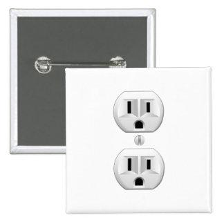 Electrical Plug Click to Customize Color Decor 2 Inch Square Button