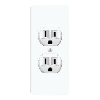 Electrical Plug Click to Customize Color Decor Card
