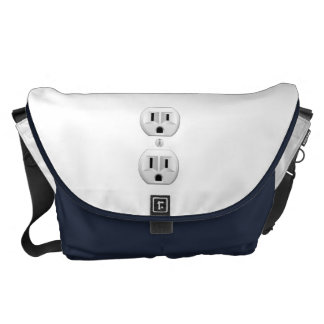 Electrical Plug Click to Customize Color Decor Courier Bag