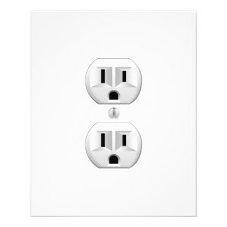 "Electrical Plug Click to Customize Color Decor 4.5"" X 5.6"" Flyer"