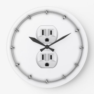 Electrical Plug Click to Customize Color Decor Large Clock