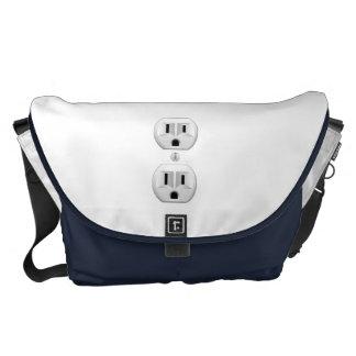 Electrical Plug Click to Customize Color Decor Courier Bag