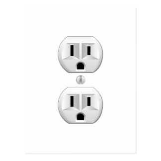 Electrical Plug Click to Customize Color Decor Postcard