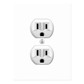 Electrical Plug Click to Customize Color Decor Postcard