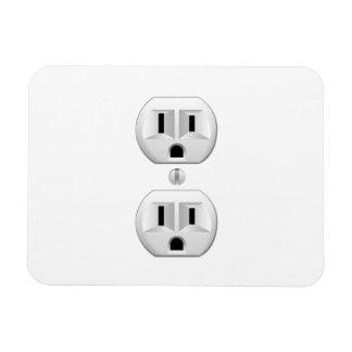 Electrical Plug Click to Customize Color Decor Rectangular Photo Magnet