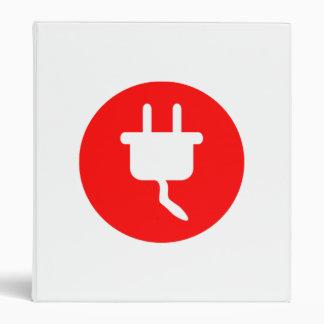 Electrical Plug Sign 3 Ring Binder