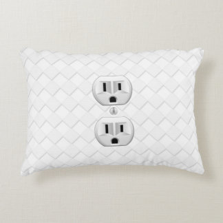 Electrical Plug Wall Outlet Fun Customize This Accent Pillow