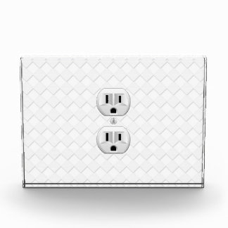 Electrical Plug Wall Outlet Fun Customize This Award