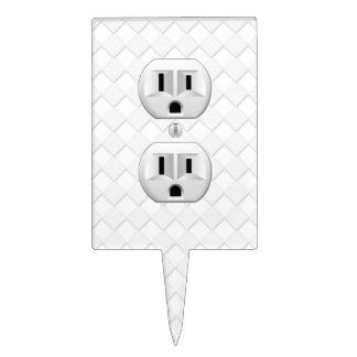 Electrical Plug Wall Outlet Fun Customize This Cake Topper