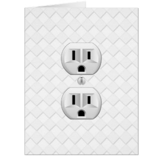 Electrical Plug Wall Outlet Fun Customize This Card