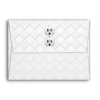 Electrical Plug Wall Outlet Fun Customize This Envelope