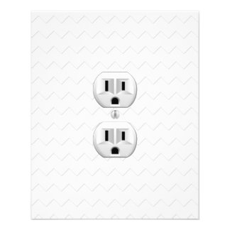 "Electrical Plug Wall Outlet Fun Customize This 4.5"" X 5.6"" Flyer"