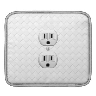 Electrical Plug Wall Outlet Fun Customize This iPad Sleeve