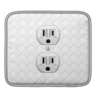 Electrical Plug Wall Outlet Fun Customize This iPad Sleeves