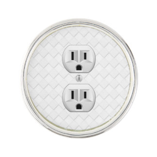 Electrical Plug Wall Outlet Fun Customize This Lapel Pin