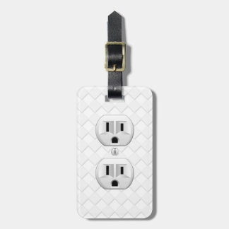 Electrical Plug Wall Outlet Fun Customize This Luggage Tag