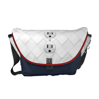 Electrical Plug Wall Outlet Fun Customize This Courier Bags