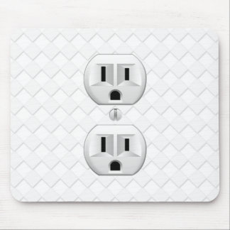 Electrical Plug Wall Outlet Fun Customize This Mouse Pad