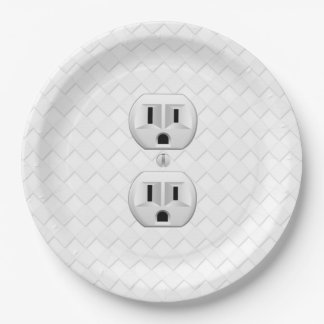 Electrical Plug Wall Outlet Fun Customize This Paper Plate