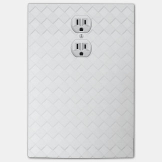 Electrical Plug Wall Outlet Fun Customize This Post-it Notes