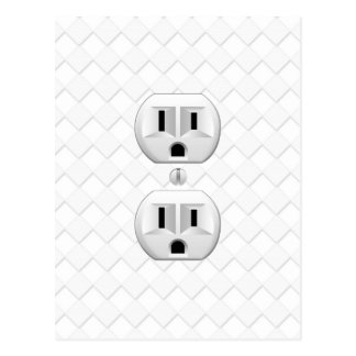 Electrical Plug Wall Outlet Fun Customize This Postcard