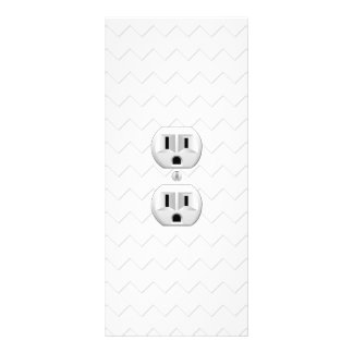 Electrical Plug Wall Outlet Fun Customize This Rack Card