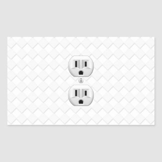 Electrical Plug Wall Outlet Fun Customize This Rectangular Sticker