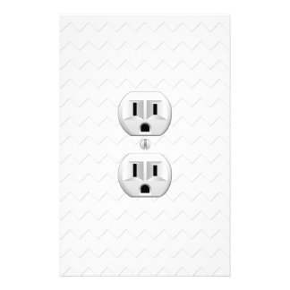 Electrical Plug Wall Outlet Fun Customize This Stationery