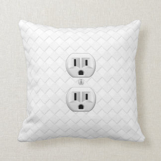 Electrical Plug Wall Outlet Fun Customize This Throw Pillow
