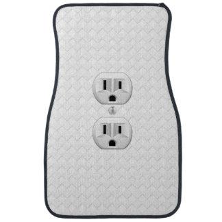 Electrical Plug Wall Outlet Fun Customize This Car Mat