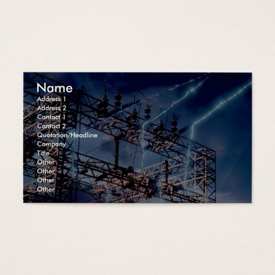 Electrical power substation business card